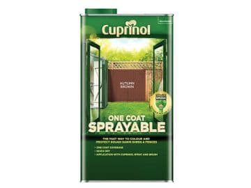 One Coat Sprayable Fence Treatment Autumn Brown 5 litre